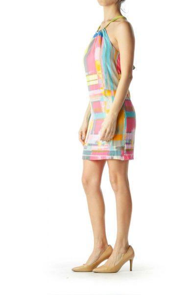 Multicolor Print Shift Dress
