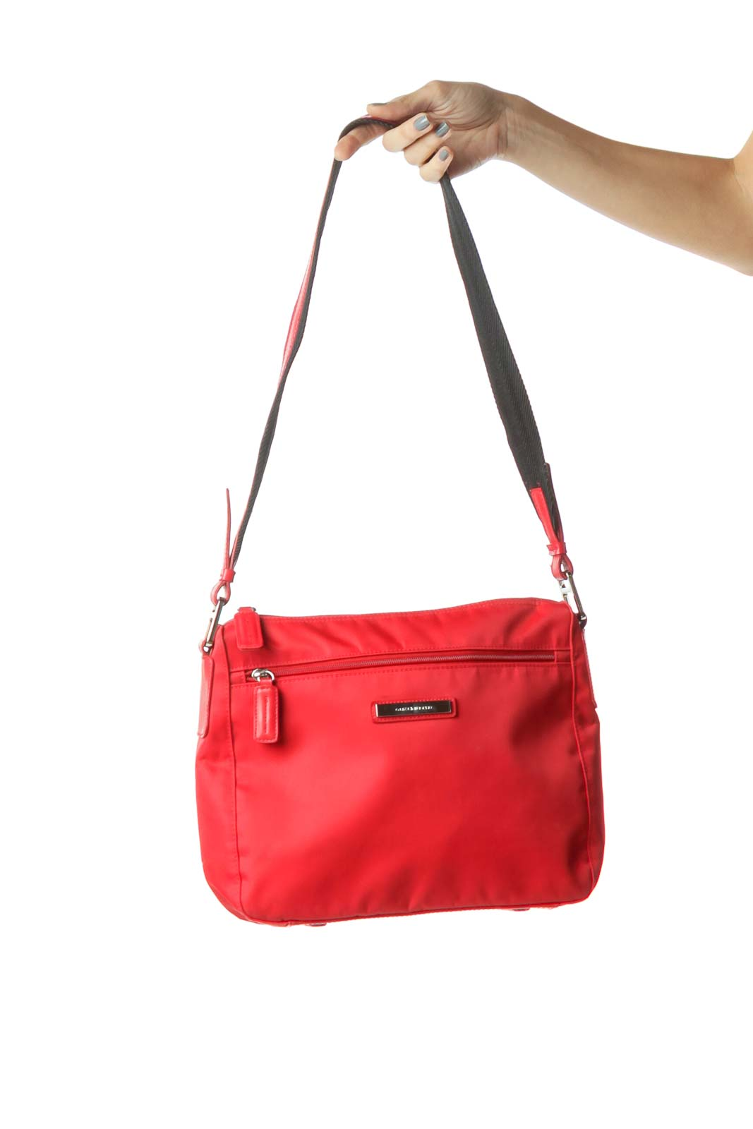 Red Nylon Shoulder Bag