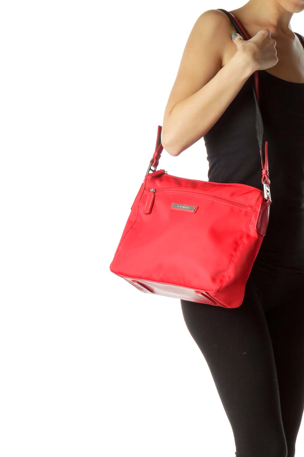 3118d2c108b5 HomeBagsShoulder BagsRed Nylon Shoulder Bag. Previous. Wristwatch by  Versace. Wristwatch by Versace. Wristwatch by Versace