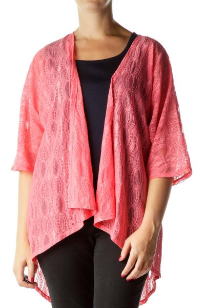 Pink Open Lace Blouse