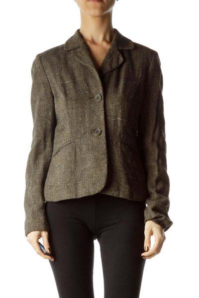 Brown Black Mottled Blazer