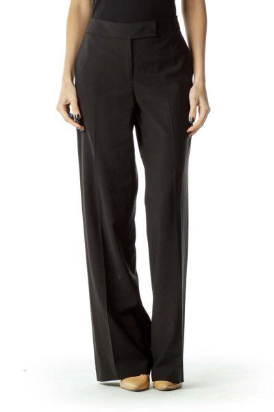 Black Straight-Leg Signature Pants