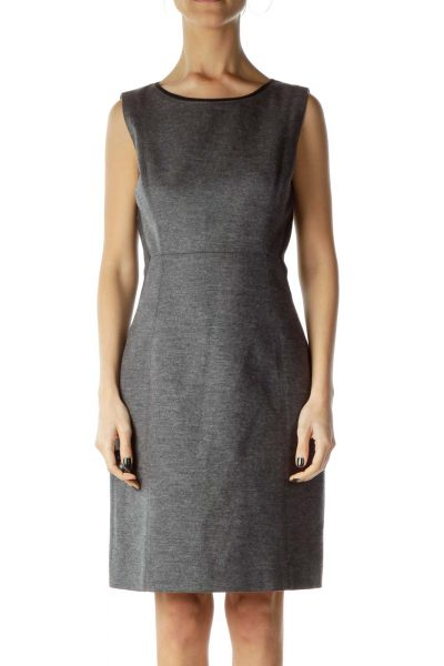 Gray Color Block Work Dress