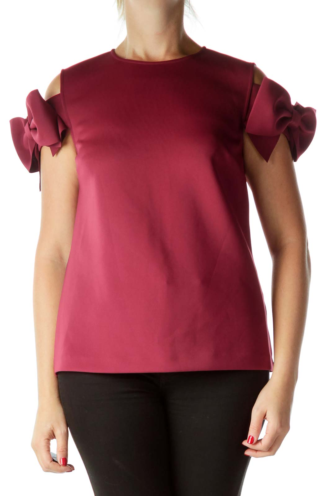 Pink Bow Short Sleeve Top