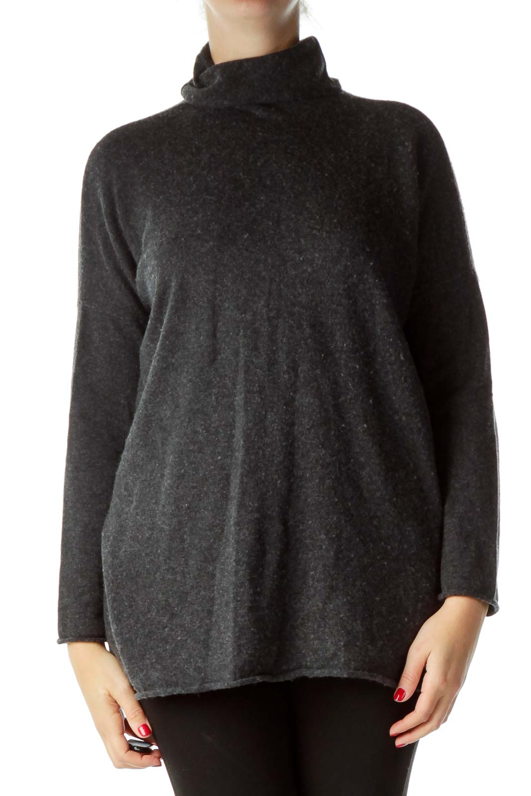 Gray Loose Turtle Neck