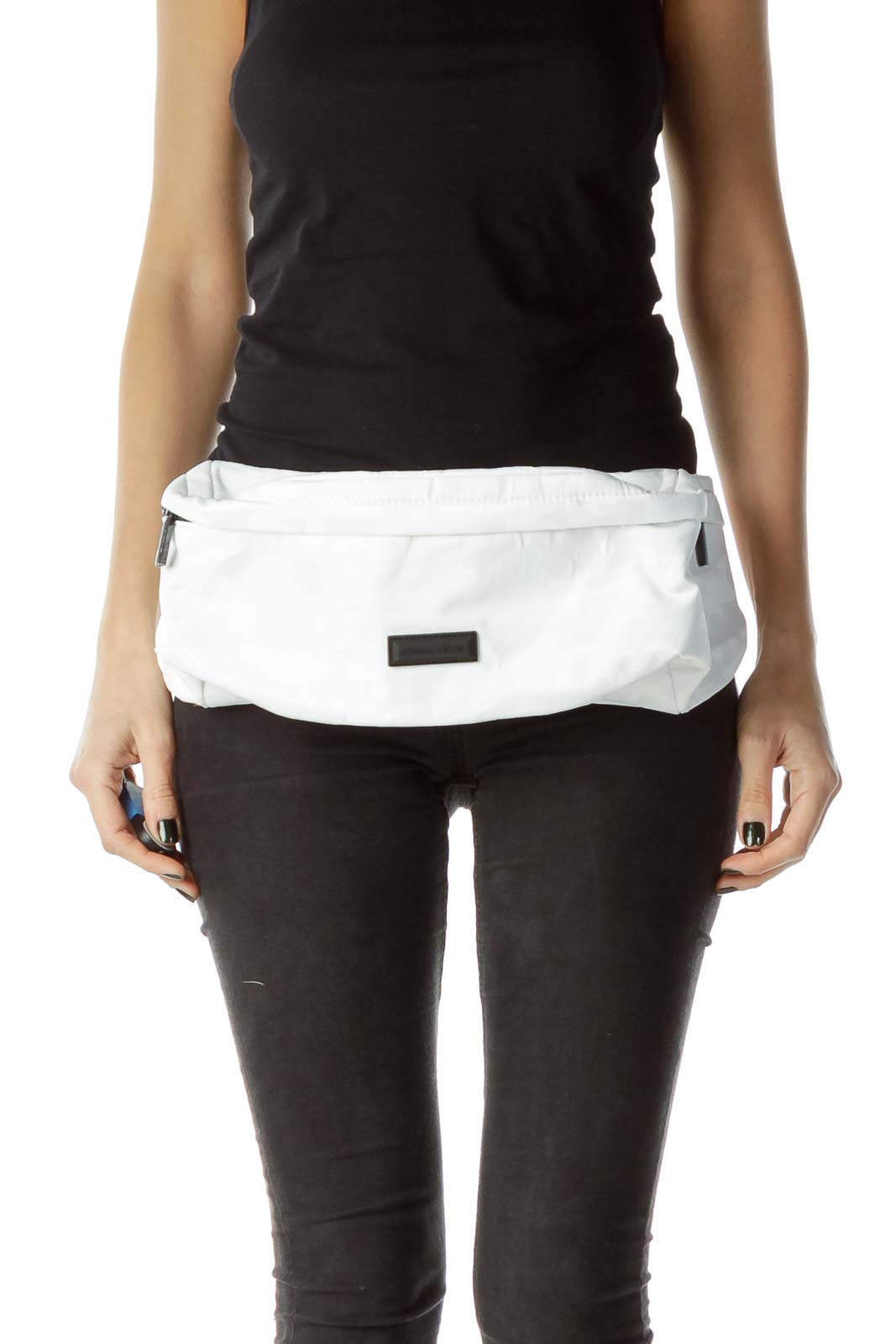 Black White Cameo Fanny Pack