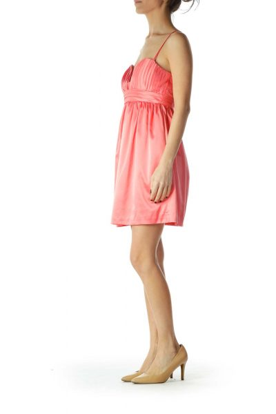 Pink Empire Waist Cocktail Dress