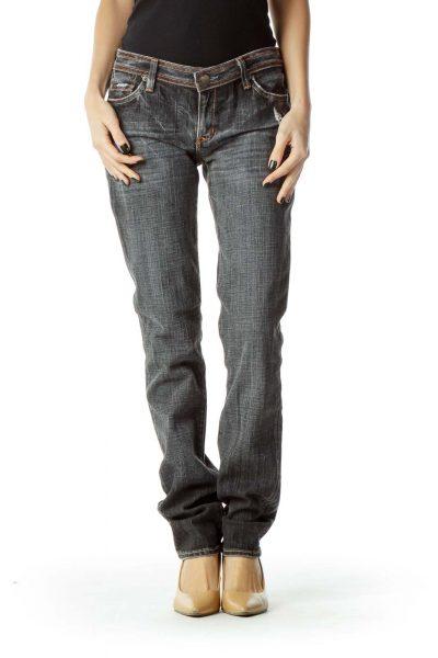 Black Distressed Skinny Jeans