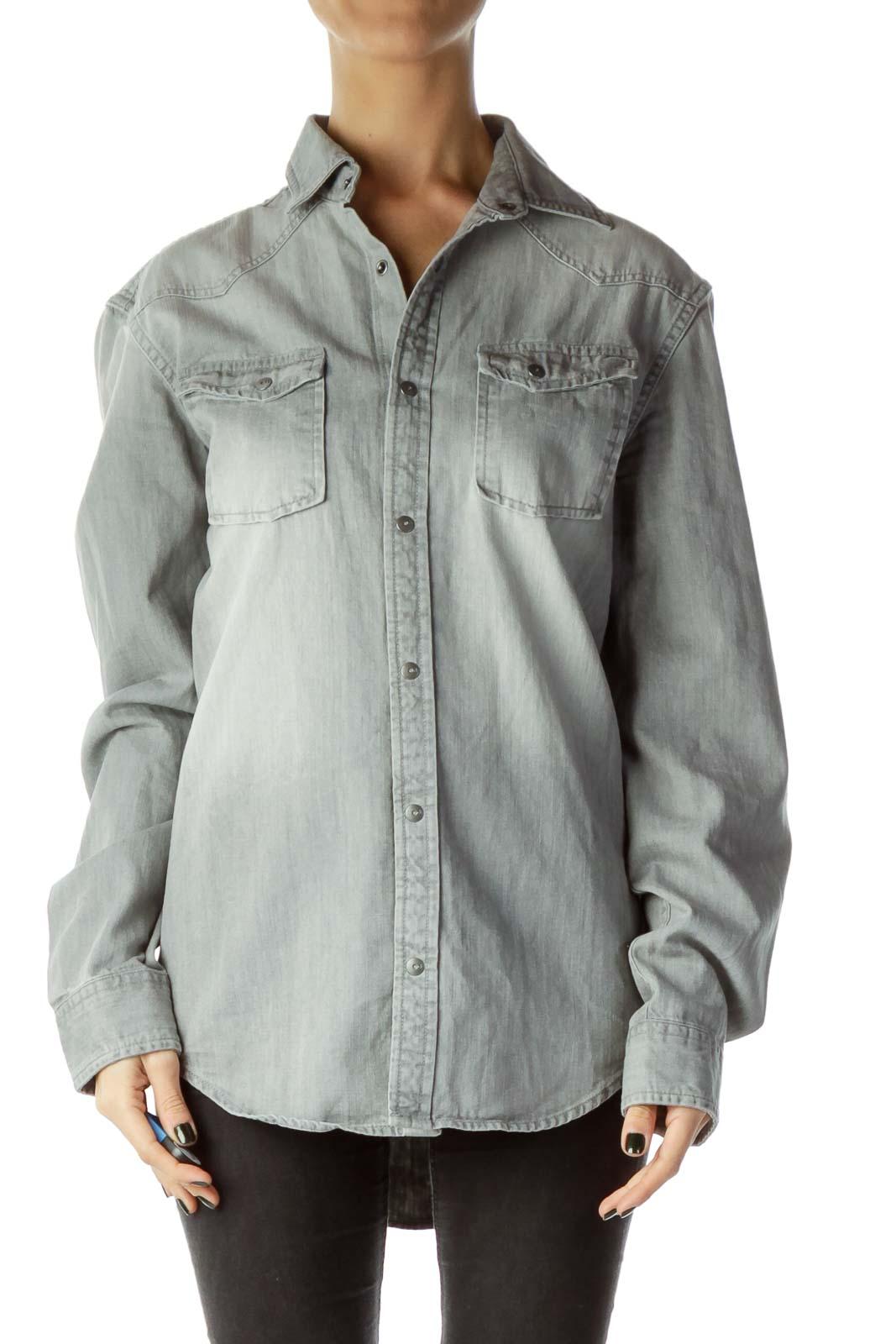Gray Demin Shirt