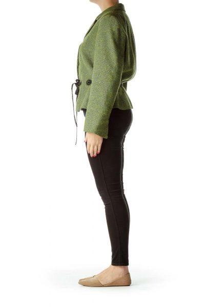 Green Tweed Suit Jacket
