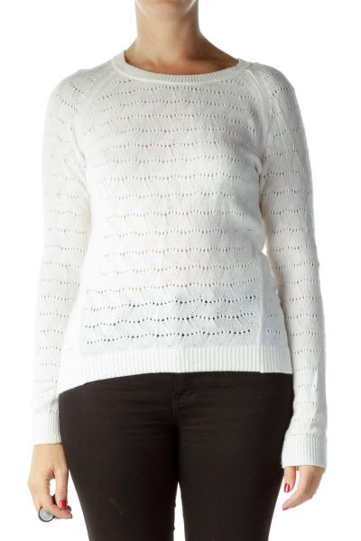 Cream Round Neck Sweater