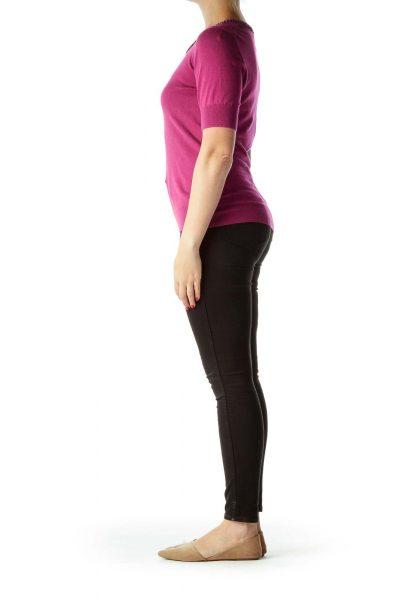 Pink Short Sleeve Knit