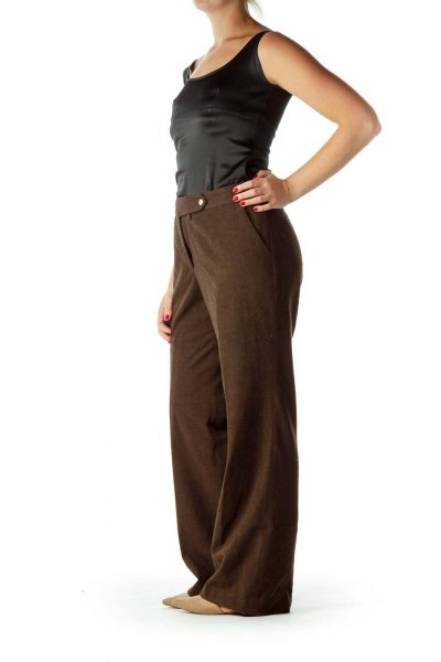Brown Soft Straight Pants