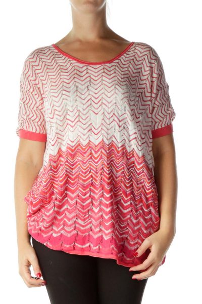 Pink One Size Knit Top