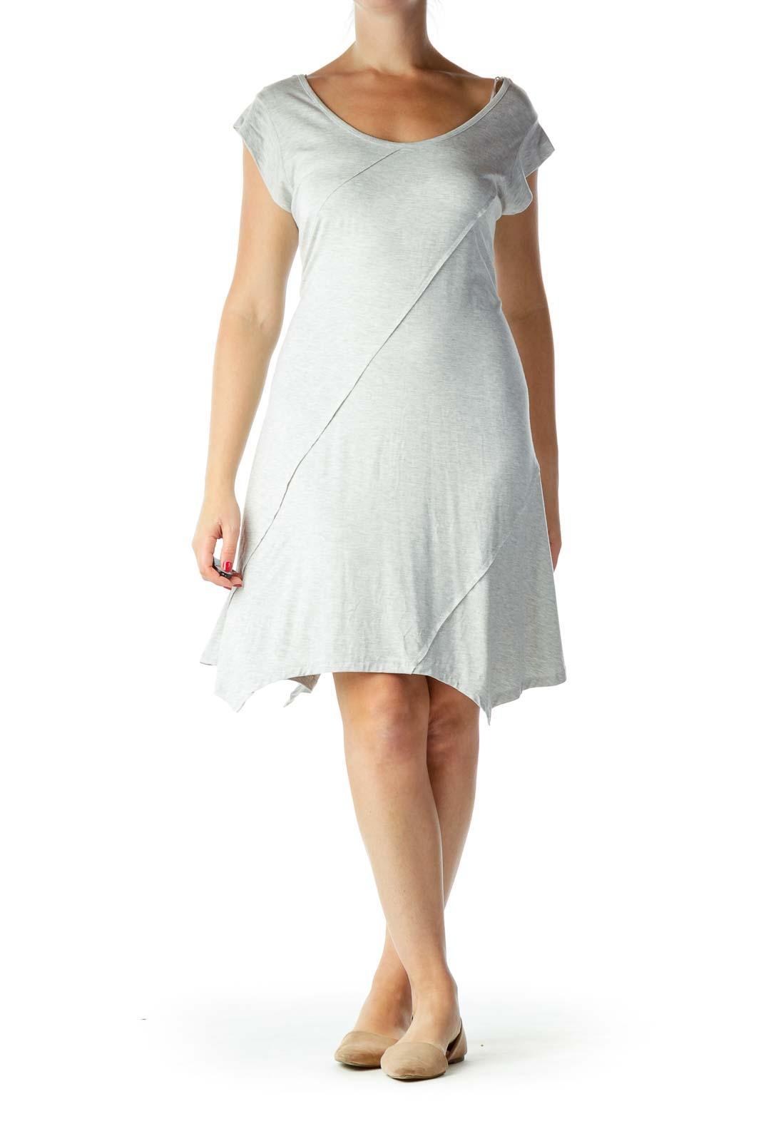 Gray Tent Jersey Dress