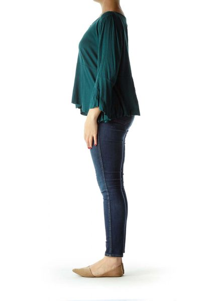 Green Flared Blouse