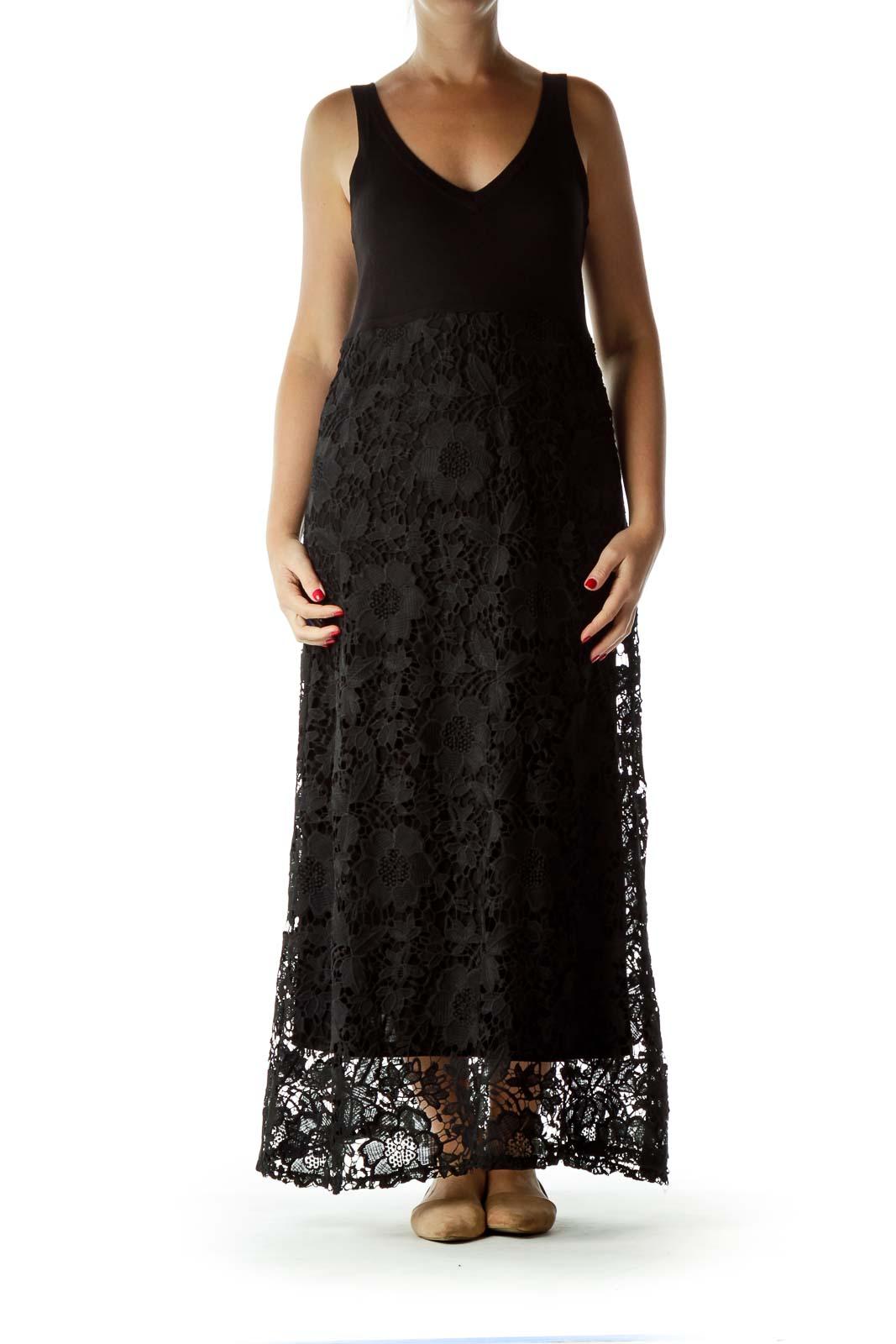 0430ec1f83 Shop Black Lace Maxi Dress clothing and handbags at SilkRoll. Trade with us!