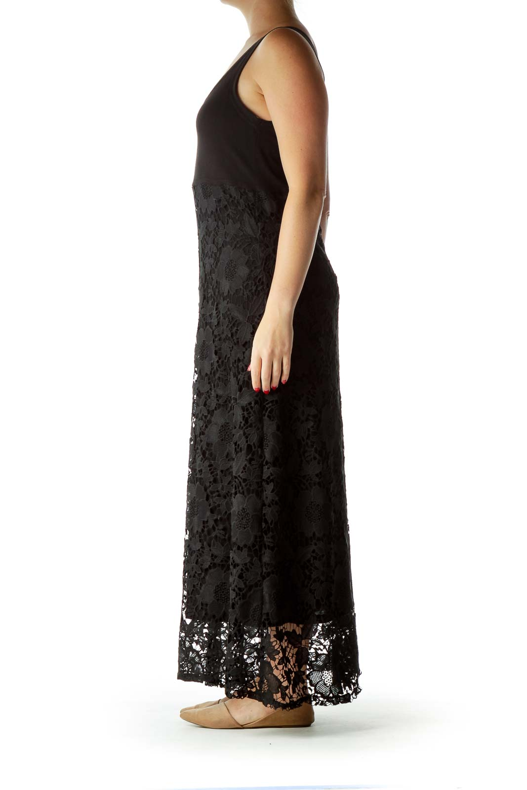 70579b0596 Shop Black Lace Maxi Dress clothing and handbags at SilkRoll. Trade ...