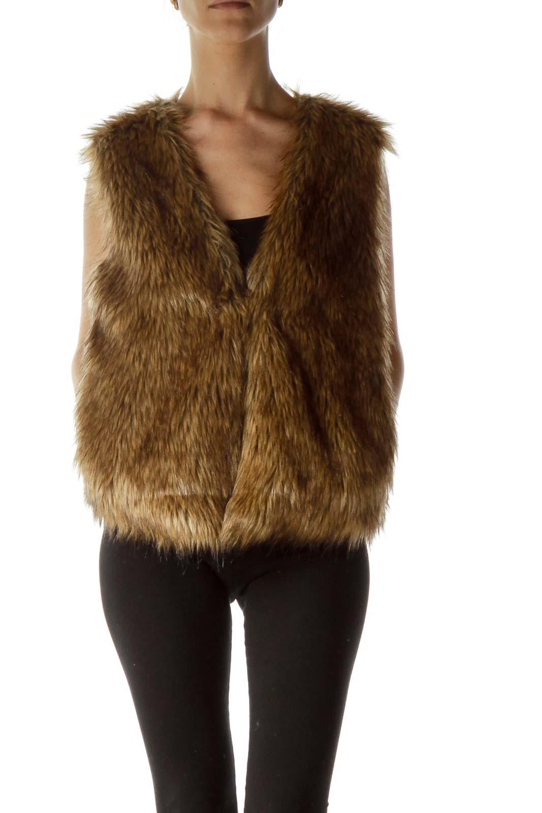 Brown Faux-Fur Vest