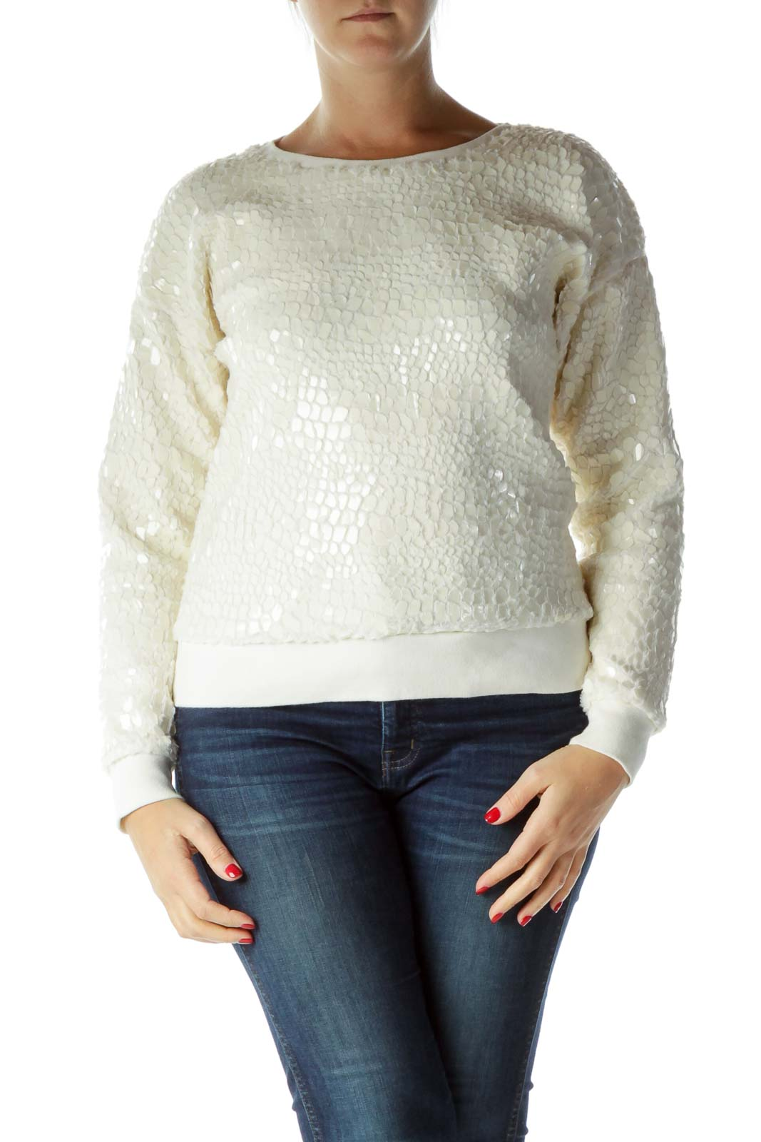 Cream Shiny Fleece