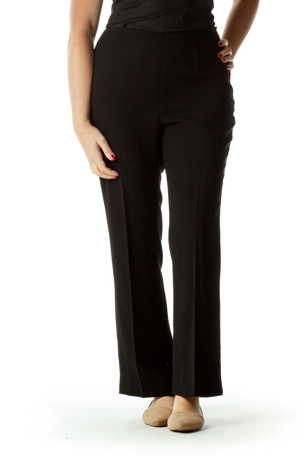 Black High-Waisted Pants