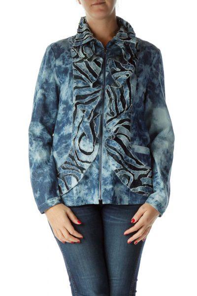 Blue Tie Dye Denim Jacket