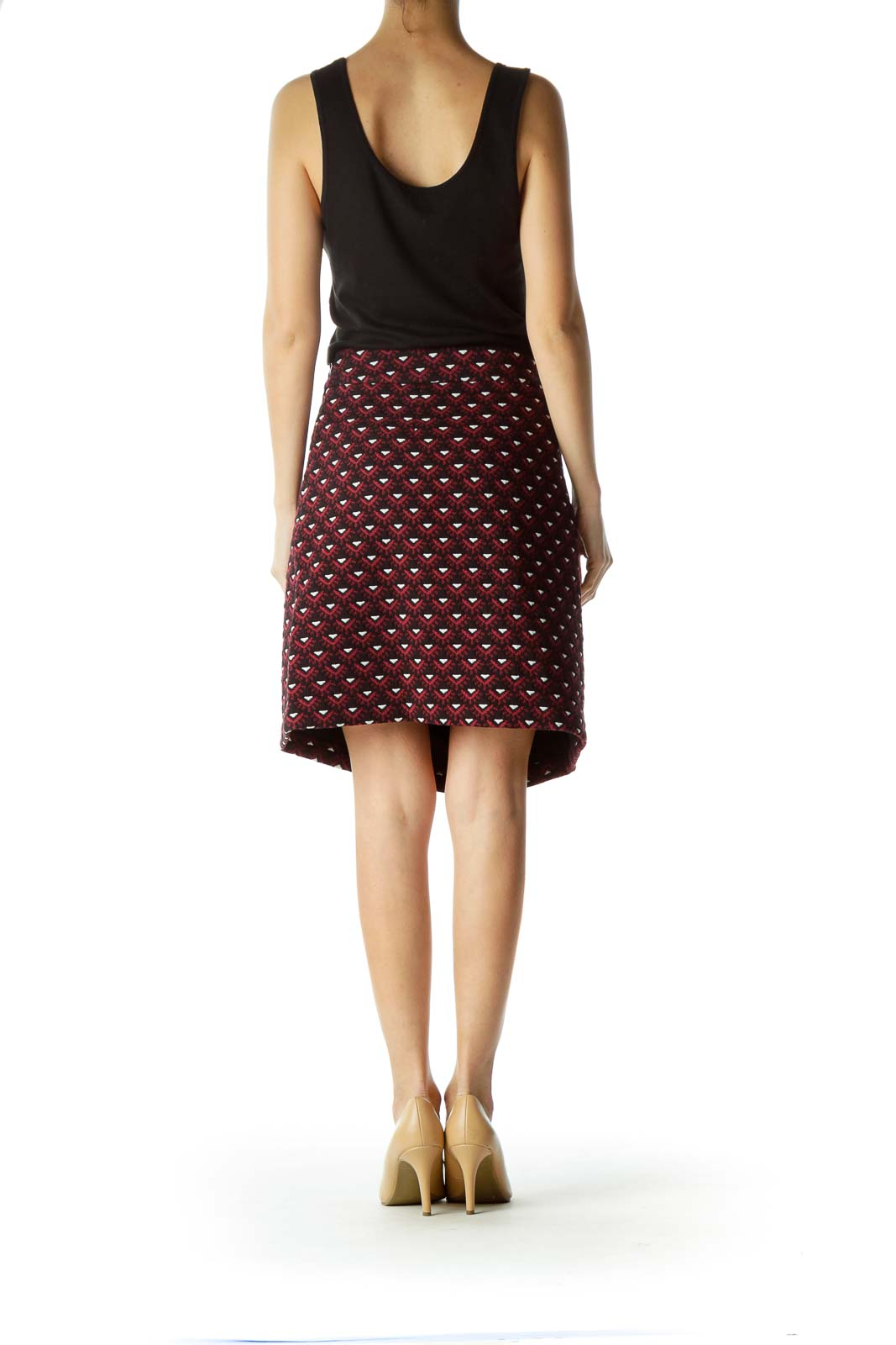 Multicolor Printed Stretchy A-Line Skirt