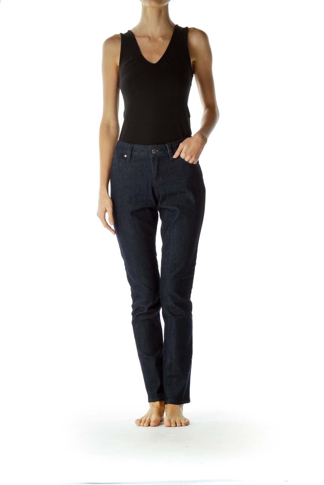 Blue Dark Wash Denim Skinny Jeans