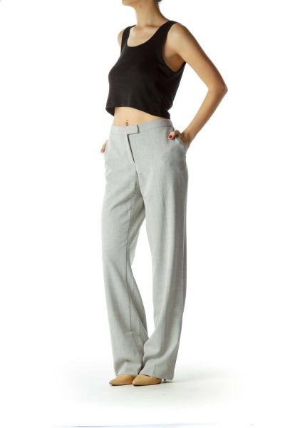 Gray Straight Leg Pants