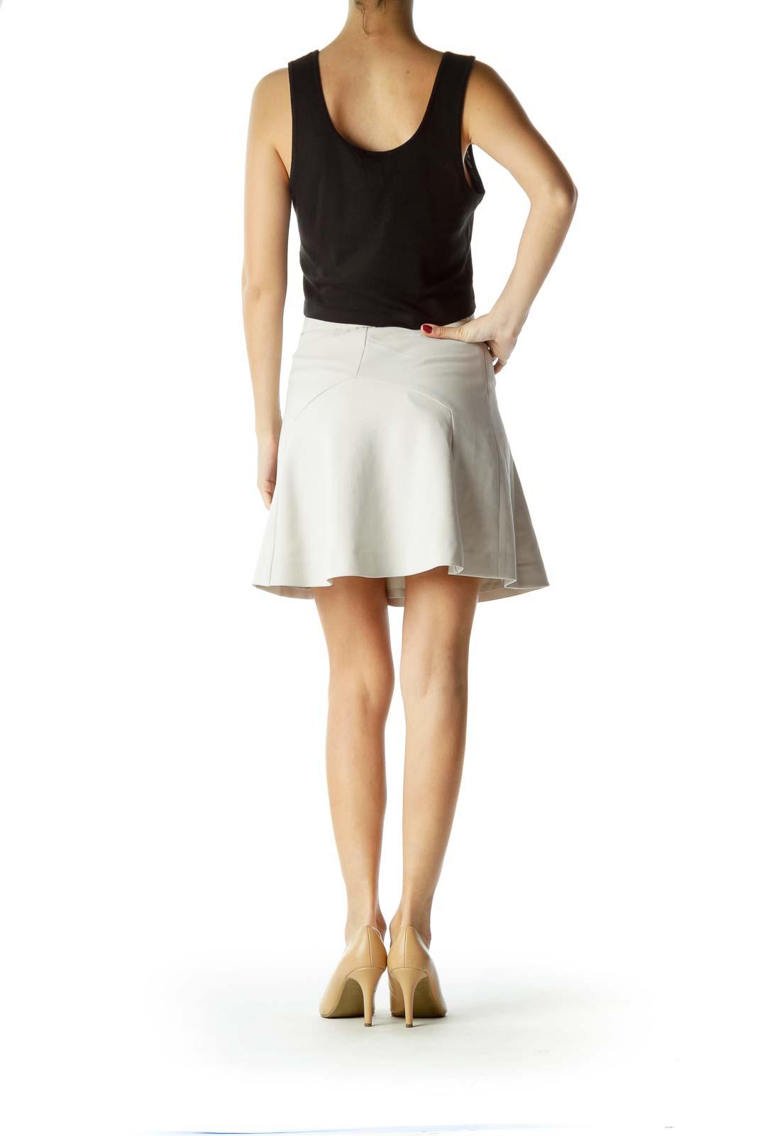 White Flared Skirt