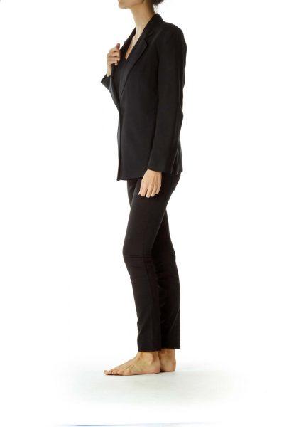 Black Soft Single Button Blazer