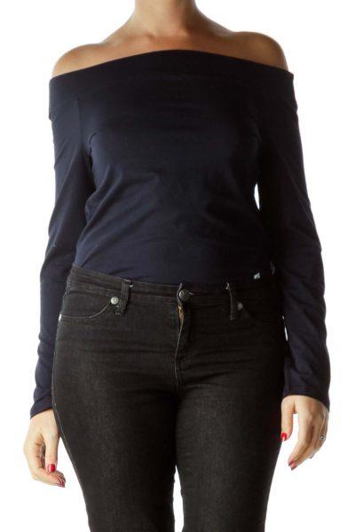 Black Off-Shoulder Bodysuit