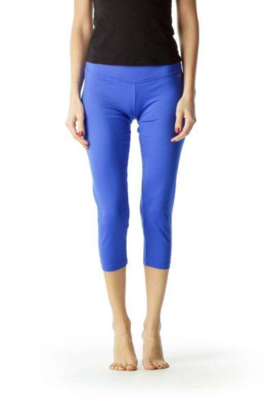 Royal Blue Cropped Leggings