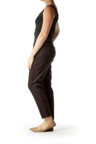 Grey Corduroy Skinny Pants