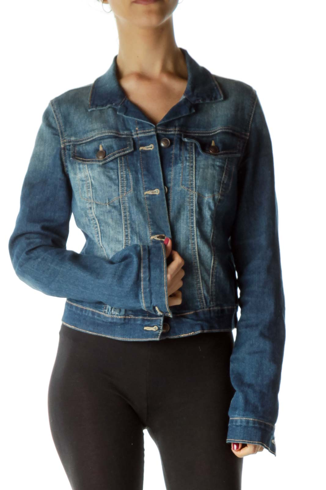 Blue Dark Denim Jacket