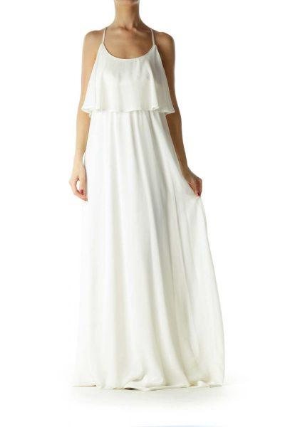 White Layered Maxi Dress