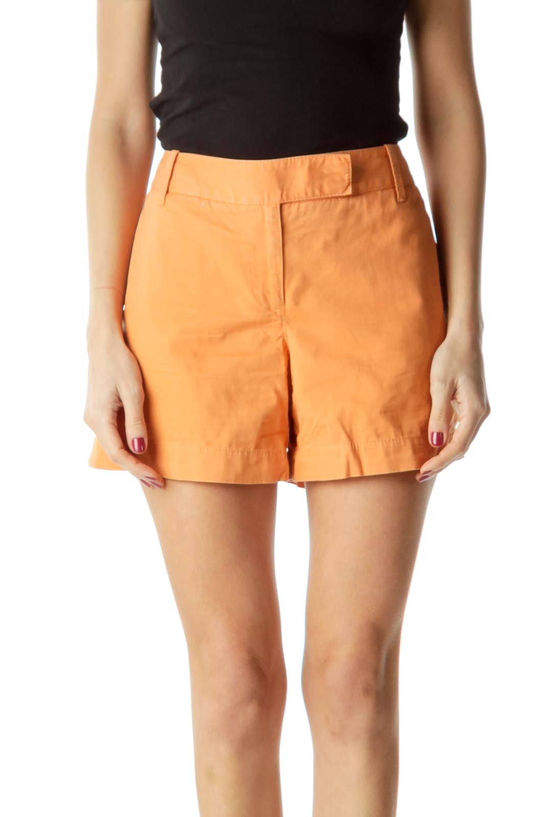 Orange Pocketed Shorts
