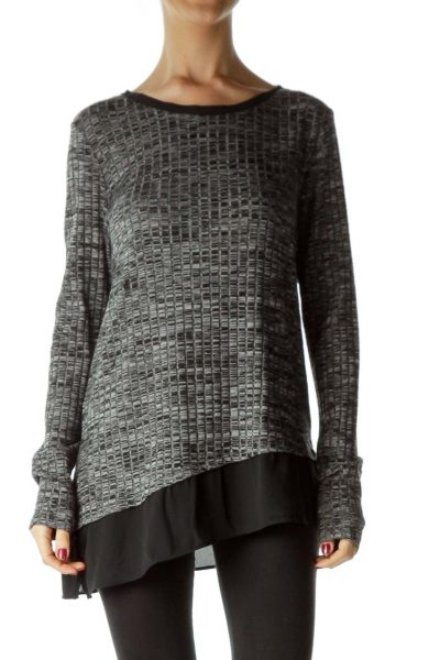 Gray Mottled Knit