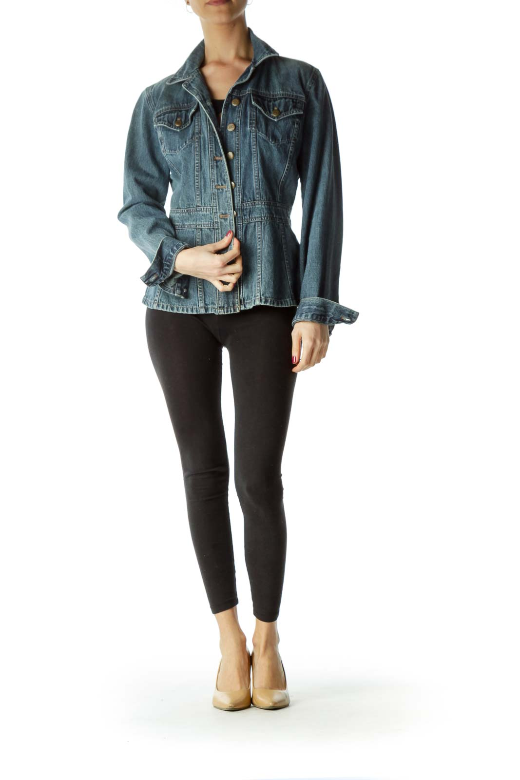 Blue Pocketed Denim Jacket