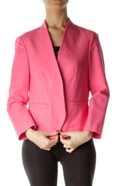 Pink Tailored Long Sleeve Blazer