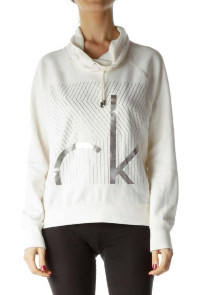 Cream Hooded Sweatshirt