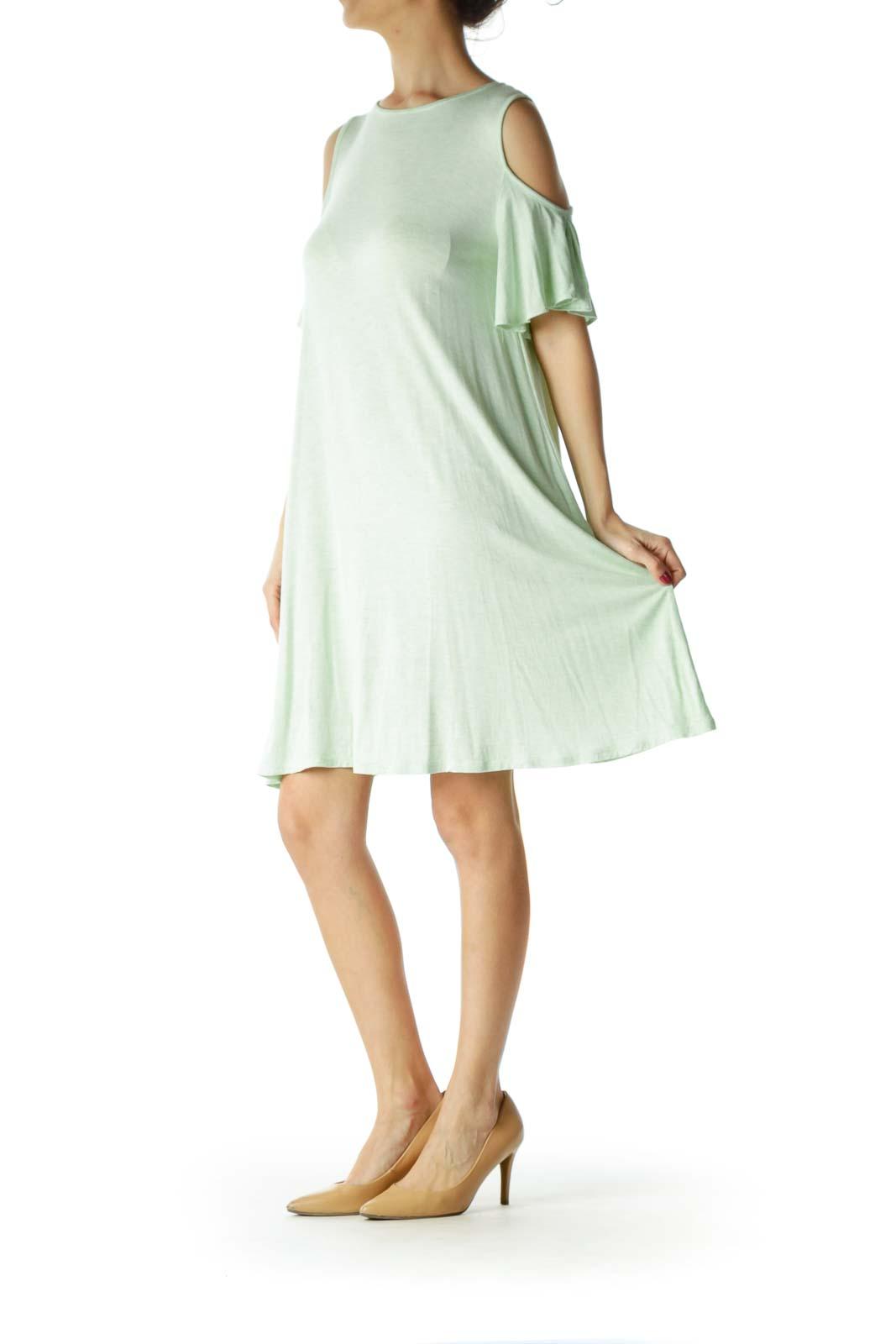 Green Cold Shoulder Tent Dress