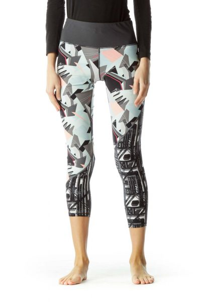 Multicolor Print Sport Yoga Pants