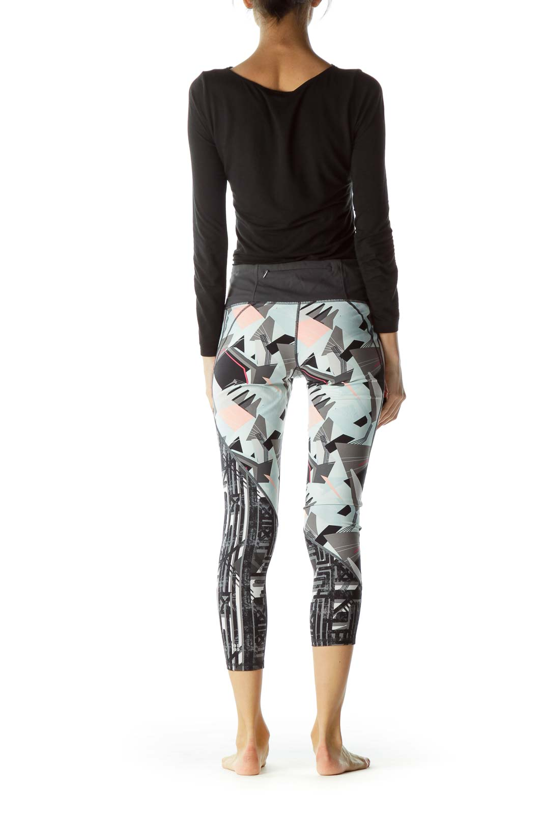 Multicolor Print Sport Yoga Pants