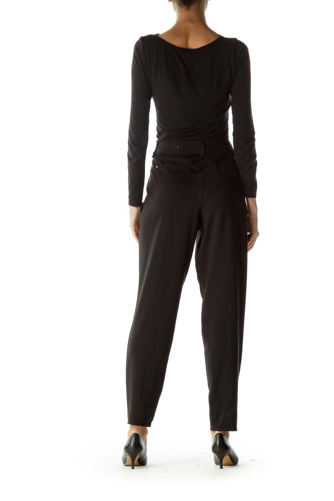 Black Mid Rise Maternity Slim-Fit Pants