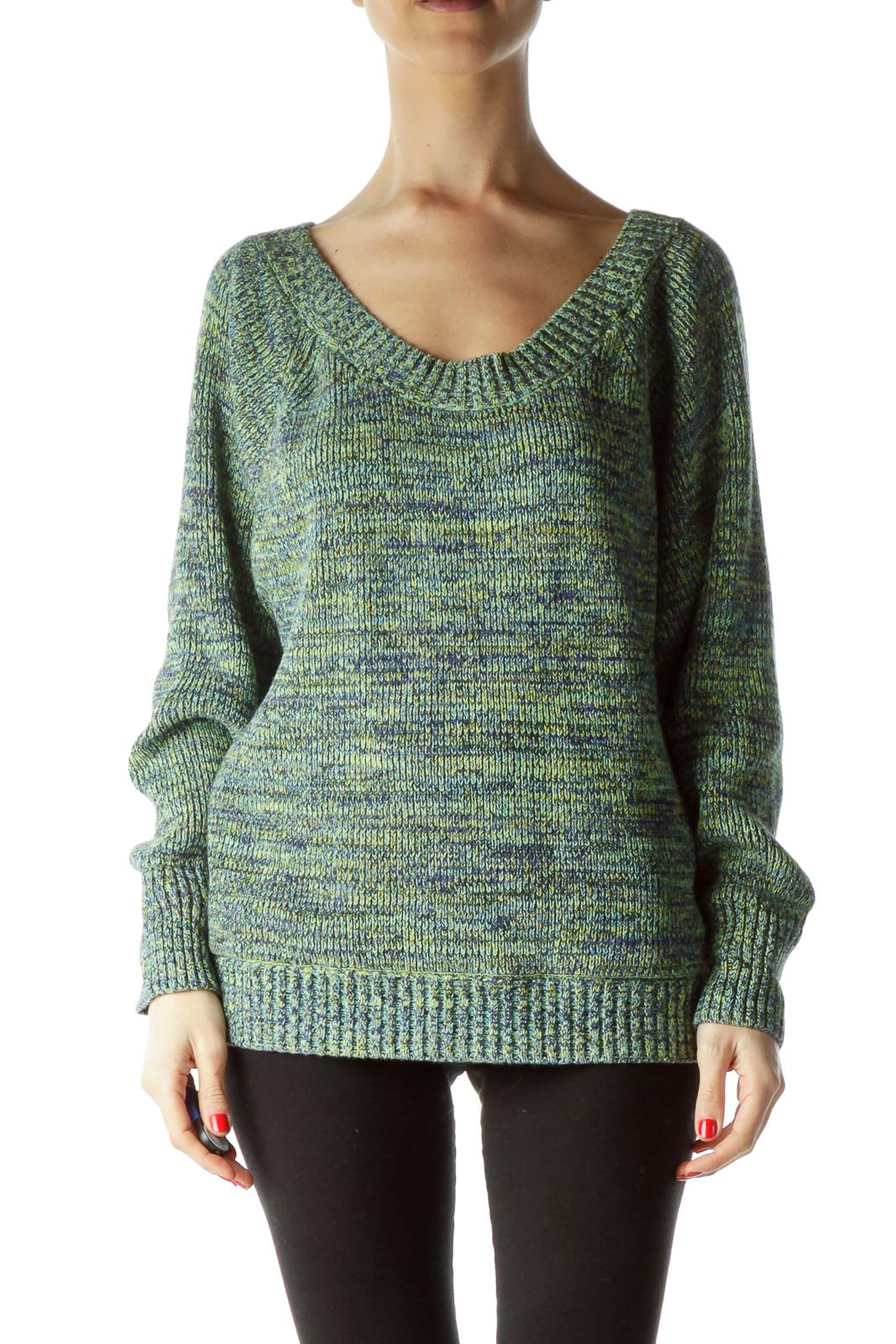 Blue Black Yellow 100% Cotton Sweater