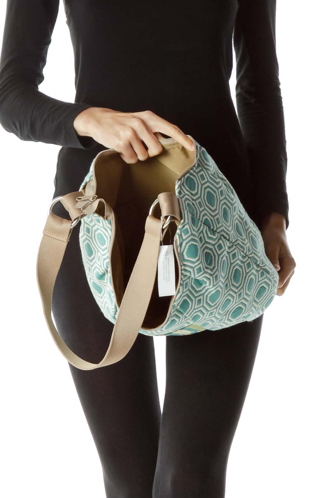Blue Cream Multicolored Shoulder Bag