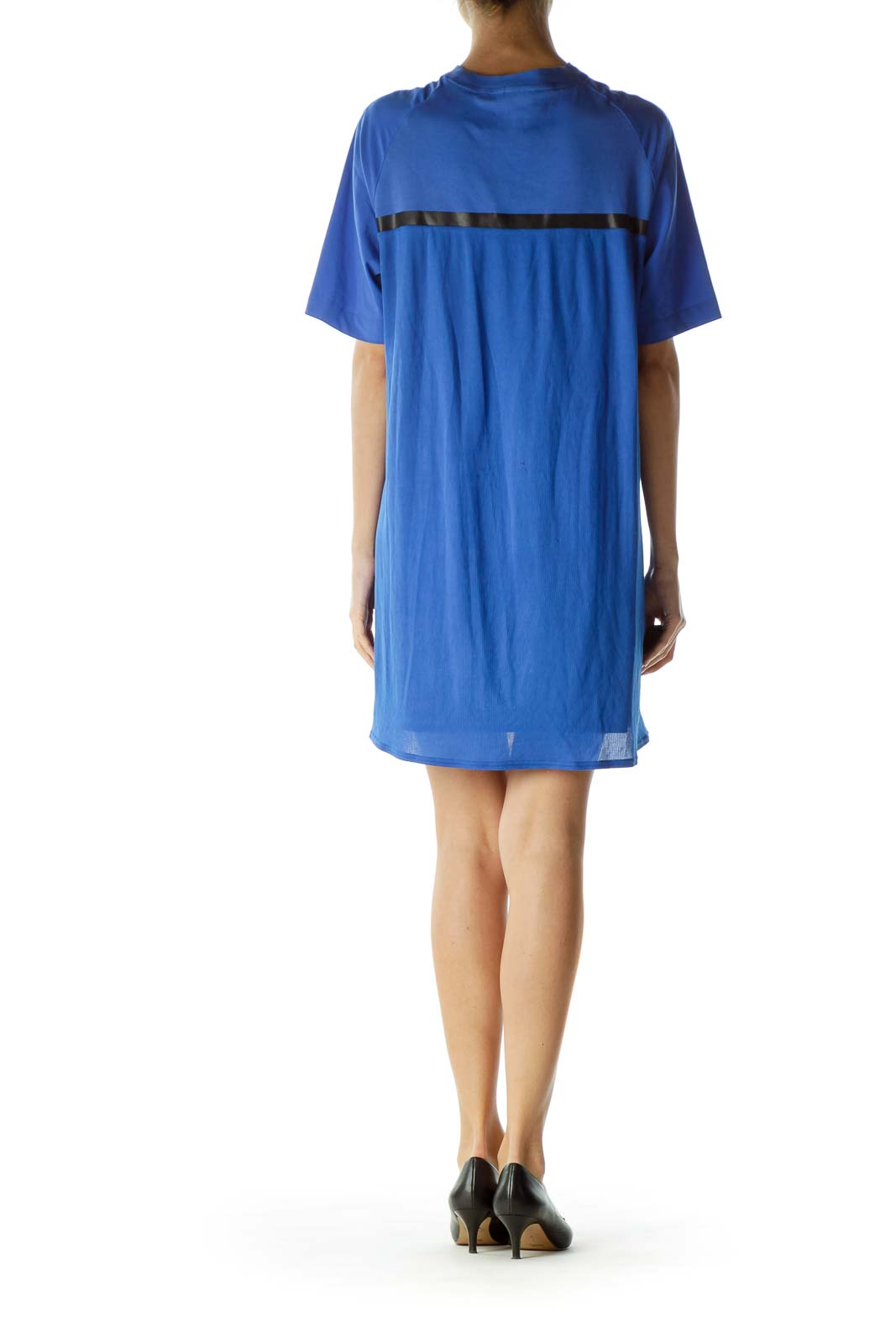 Blue Pocketed Sports Dress with Slip