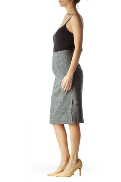 Gray Mottled Work Skirt