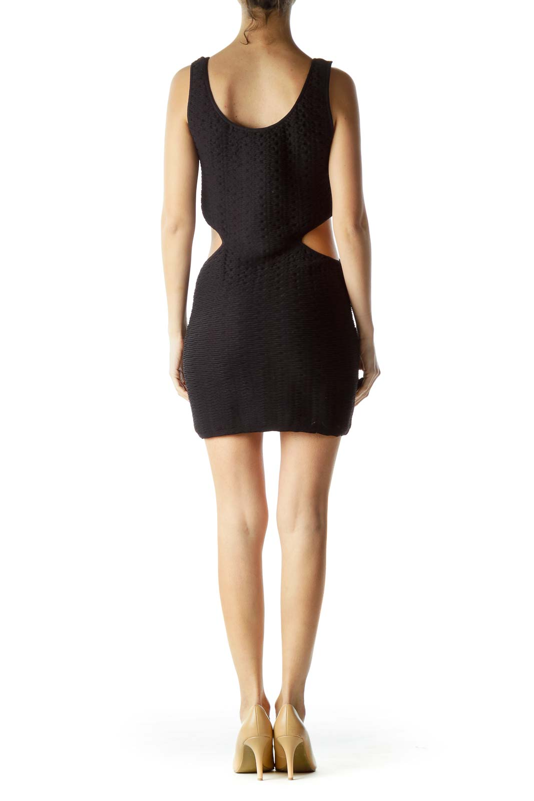 Black Cut-Out Body Con Cocktail Dress